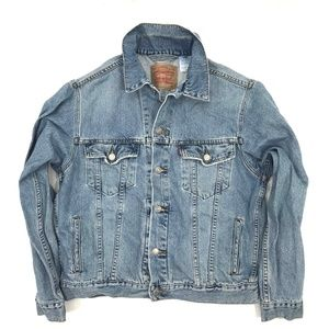 Levis Distressed Blue Denim Trucker Jacket